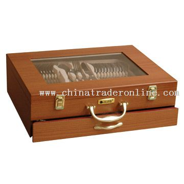 90pcs Wooden Box with Window Open