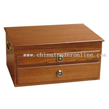 Double-Drawer Wooden Box