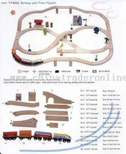 RAILWAY AND TRAIN PLAYSET