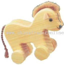 Wooden HORSE ON ROLL Toys