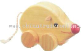 Wooden MOUSE ON ROLL Toys