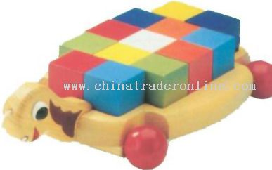 Wooden TRUTLE W/BRICKS Toys