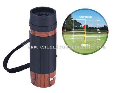 Monocular style Golf range finder