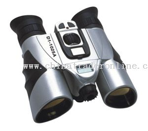 Combination of digital camera and binoculars