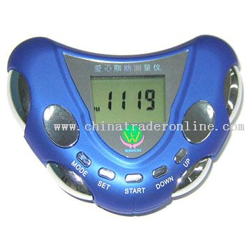 Heart Shape Body Fat Meter With Pedometer