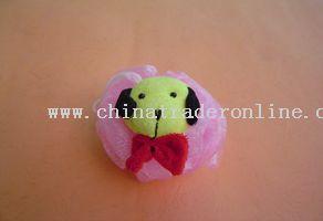 cartoon bath massager (dog head)(30g)