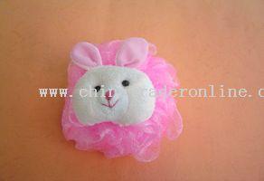 cartoon bath massager (rabbit head)(30g)