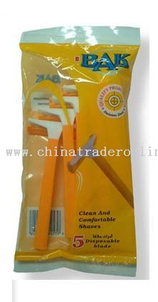 Single blade Razor with polybag package