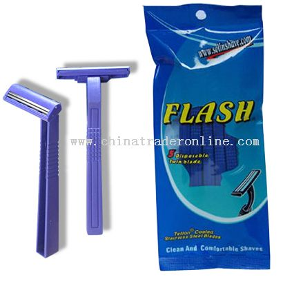 Stainless steel twin blade Flash Polybag Razors