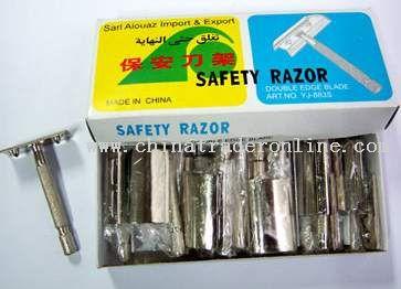 12 double edge razor handle in a small cardboard box
