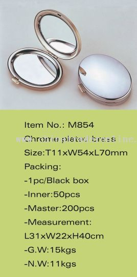 Chrome Plated Brass Cosmetic Mirror