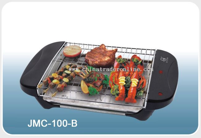 Electric barbecue grill with power indicator light