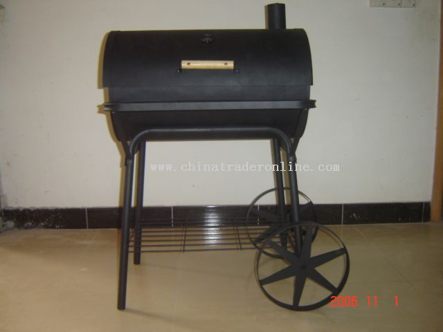Round barrel charcoal stove