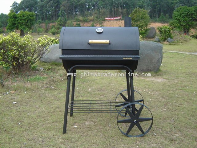 Round barrel charcoal stove from China