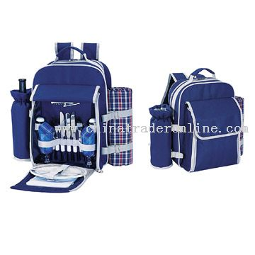 2-Person Picnic Backpack with Blanket