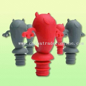 100% Food Grade Silicone Bottle & Wine Stoppers from China