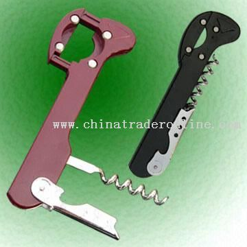 Wine Corkscrews and Bottle Openers with ABS Handle in Different Colors
