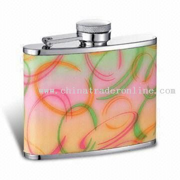 4oz Colorful Hip Flask