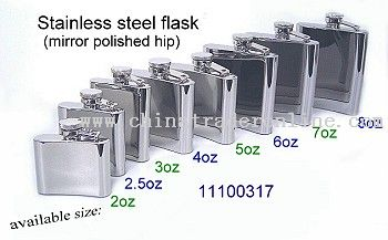 STAINLESS STEEL MIRROR POLISHED HIP FLASK