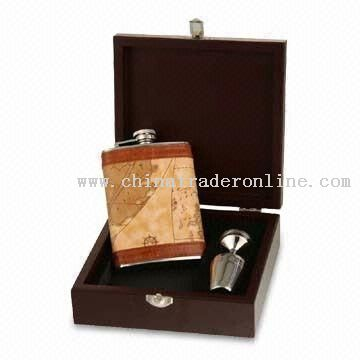 Stainless Steel Hip Flask, Available in Gift Box Packing