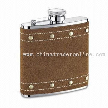 Stainless Steel Hip Flask Covered