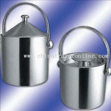 Double-Walled Ice Bucket w/ Different Handles and Lids for Selection