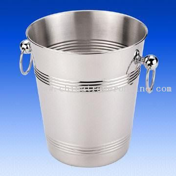 Single-Wall Stainless Steel Ice Bucket with 4.80L Capacity