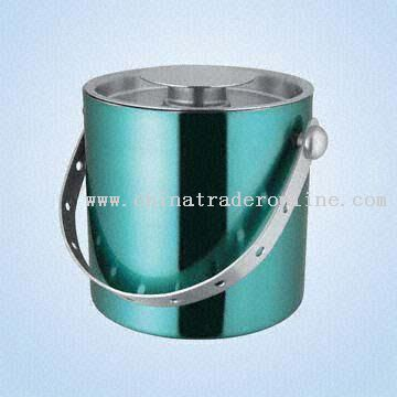 Stainless Steel Double Walled Ice Bucket in Different Colors Combination