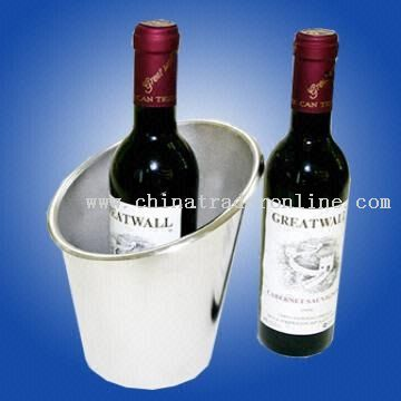 Stainless Steel Single-layer Wine Cooler Suitable as Promotional Gift