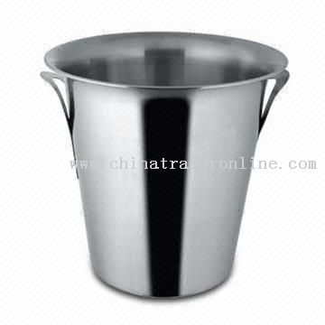 Stainless Steel Wine Bucket with Tulip Handle