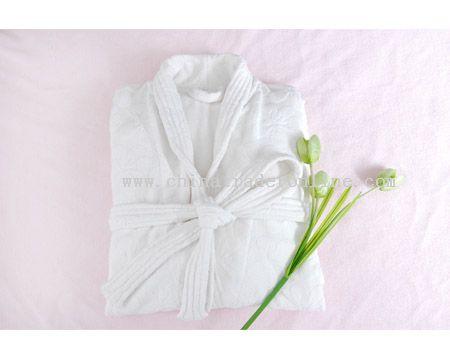 microfiber Jacquard bathrobe from China