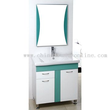 PVC Board Cabinet Ceramic Basin from China