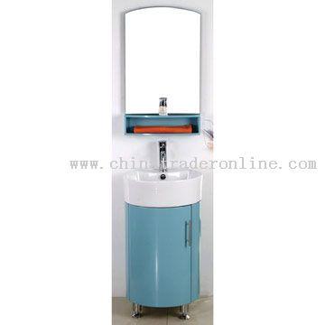 PVC Expansible Board Cabinet Ceramic Basin