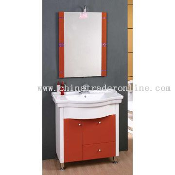 PVC Expansible Board Cabinet with Ceramic Basin