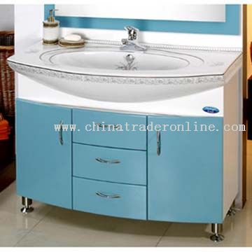 PVC Expansile Board Cabinet Ceramic Basin