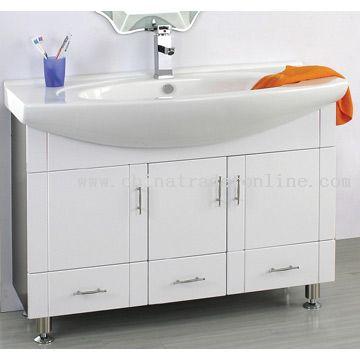 PVC Laminated Sheet Cabinet Ceramic Basin