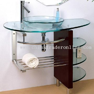 Solid Wood Glass Basin