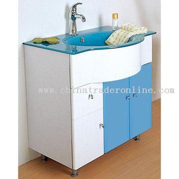 Wholesale waterproof crystal sheet cabinet basin buy for Waterproof bathroom cabinets