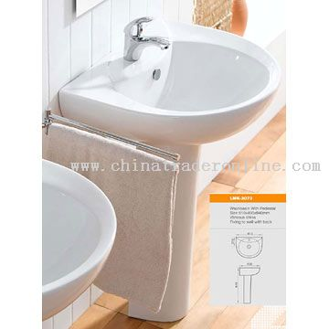 Washbasin with Half Pedestal