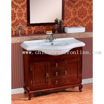 Washbasin with Rosewood Cabinet