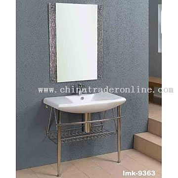 Washbasin with Stainless Pedestal