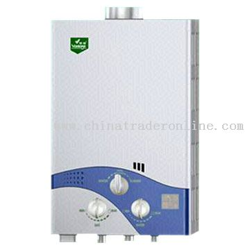 Gas Water Heater with Continuous Control of Gas and Water