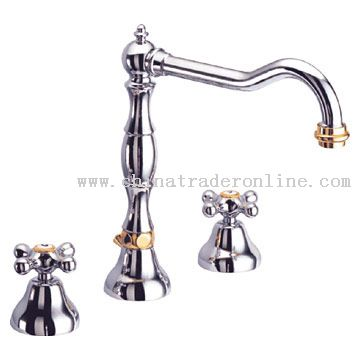 Double Handle Wide-Spread Lavatory Faucet