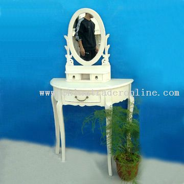 Half Round Table and Mirror