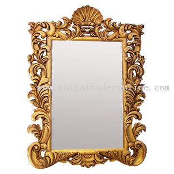 Wood Engraving Mirror from China