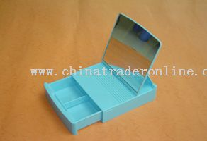 jewel case with table-board mirror