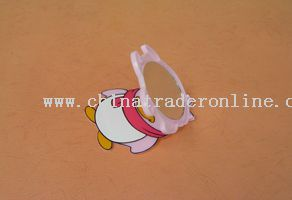 penguin shape mirror(90x72x5mm)