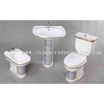 Toilet, Bidet and Washbasin