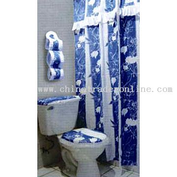 Shower Curtain with Lace