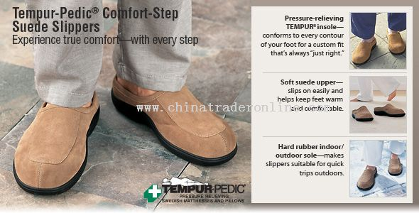 Comfort-Step Suede Slippers